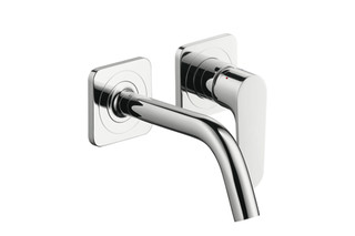 Axor Citterio M Single Lever Basin Mixer for concealed installation with escutcheons and spout 167mm DN15, wall mounting  by  AXOR