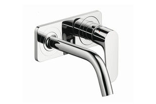 Axor Citterio M Single Lever Basin Mixer for concealed installation with plate and spout 167mm DN15, wall mounting  by  AXOR