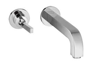 Axor Citterio Single Lever Basin Mixer for concealed installation with escutcheons and spout 165mm, wall mounting, DN15  by  Axor