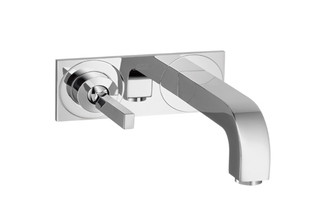 Axor Citterio Single Lever Basin Mixer for concealed installation with plate and spout 225mm, wall mounting, DN15  by  AXOR