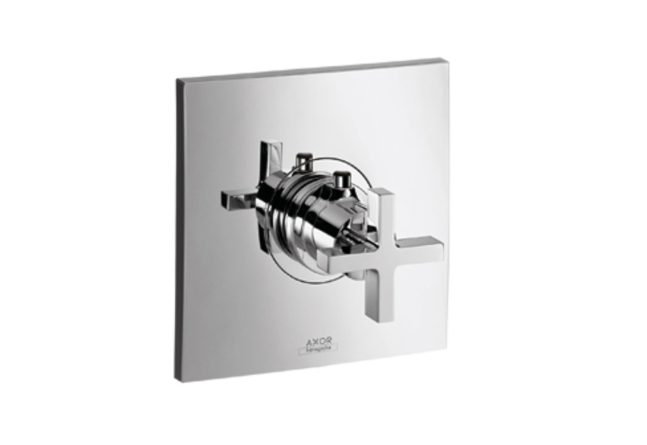 Axor Citterio Thermostatic Mixer for concealed installation with cross handle