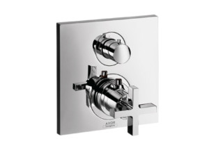 Axor Citterio Thermostatic Mixer for concealed installation with shut-off valve and cross handle  by  Axor
