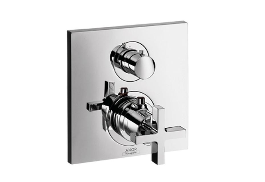 Axor Citterio  Thermostat Unterputz mit Absperrventil mit Kreuzgriff