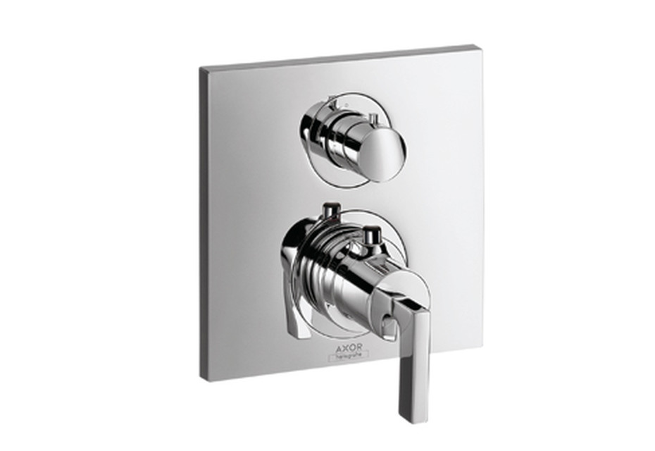 Axor Citterio Thermostatic Mixer for concealed installation with shut-off/diverter valve and lever handle