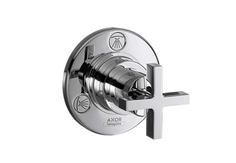 Axor Citterio Trio/ Quattro Shut-off and Diverter Valve for concealed installation with cross handle DN20