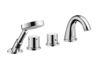 Axor Starck 4-Hole Thermostatic Rim-Mounted Bath Mixer DN15  by  Axor