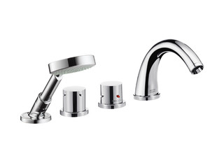 Axor Starck 4-Hole Thermostatic Tile Mounted Bath Mixer DN15  by  AXOR