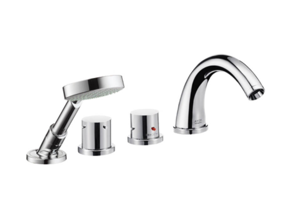 Axor Starck 4-Hole Thermostatic Tile Mounted Bath Mixer DN15