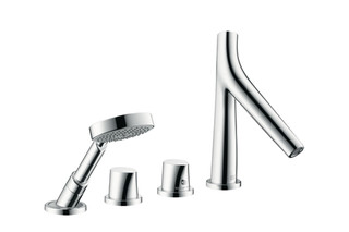 Axor Starck Organic 4-Hole Rim-Mounted Thermostatic Bath Mixer DN15  by  AXOR