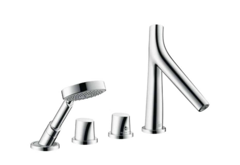 Axor Starck Organic 4-Hole Rim-Mounted Thermostatic Bath Mixer DN15 ...