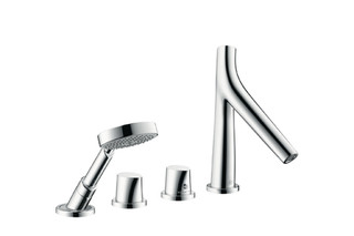 Axor Starck Organic 4-Hole Tile-Mounted Thermostatic Bath Mixer DN15  by  AXOR