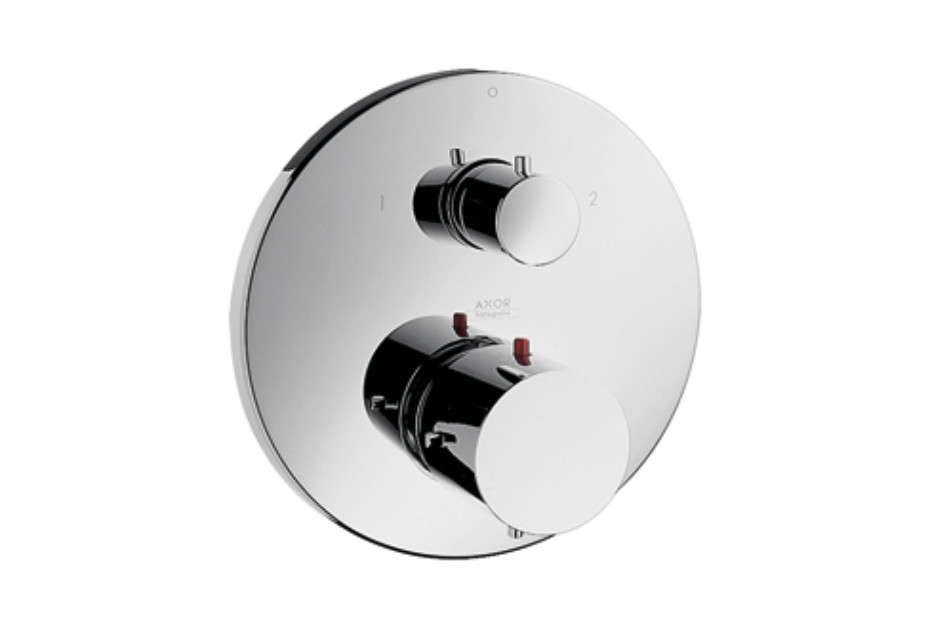Axor Starck Thermostatic Mixer for concealed installation with shut-off/diverter valve