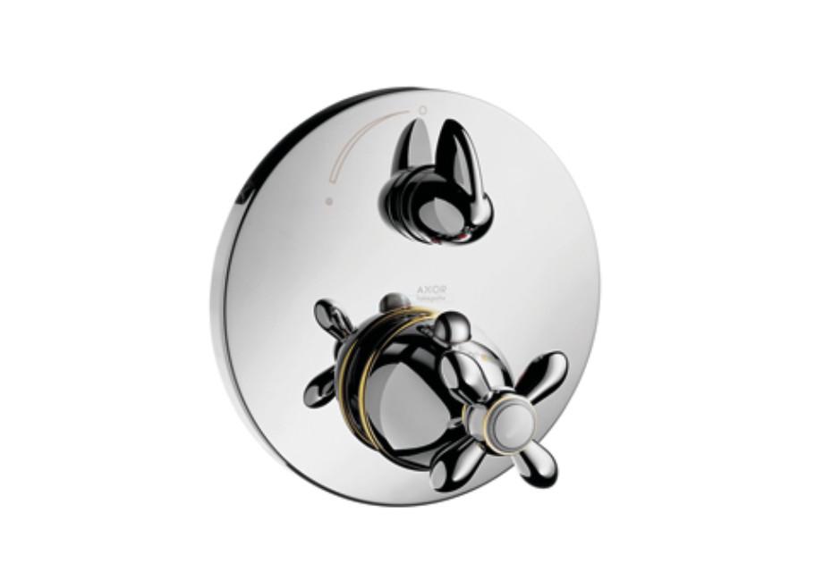 Axor Carlton Thermostat Unterputz mit Absperrventil mit Kreuzgriff