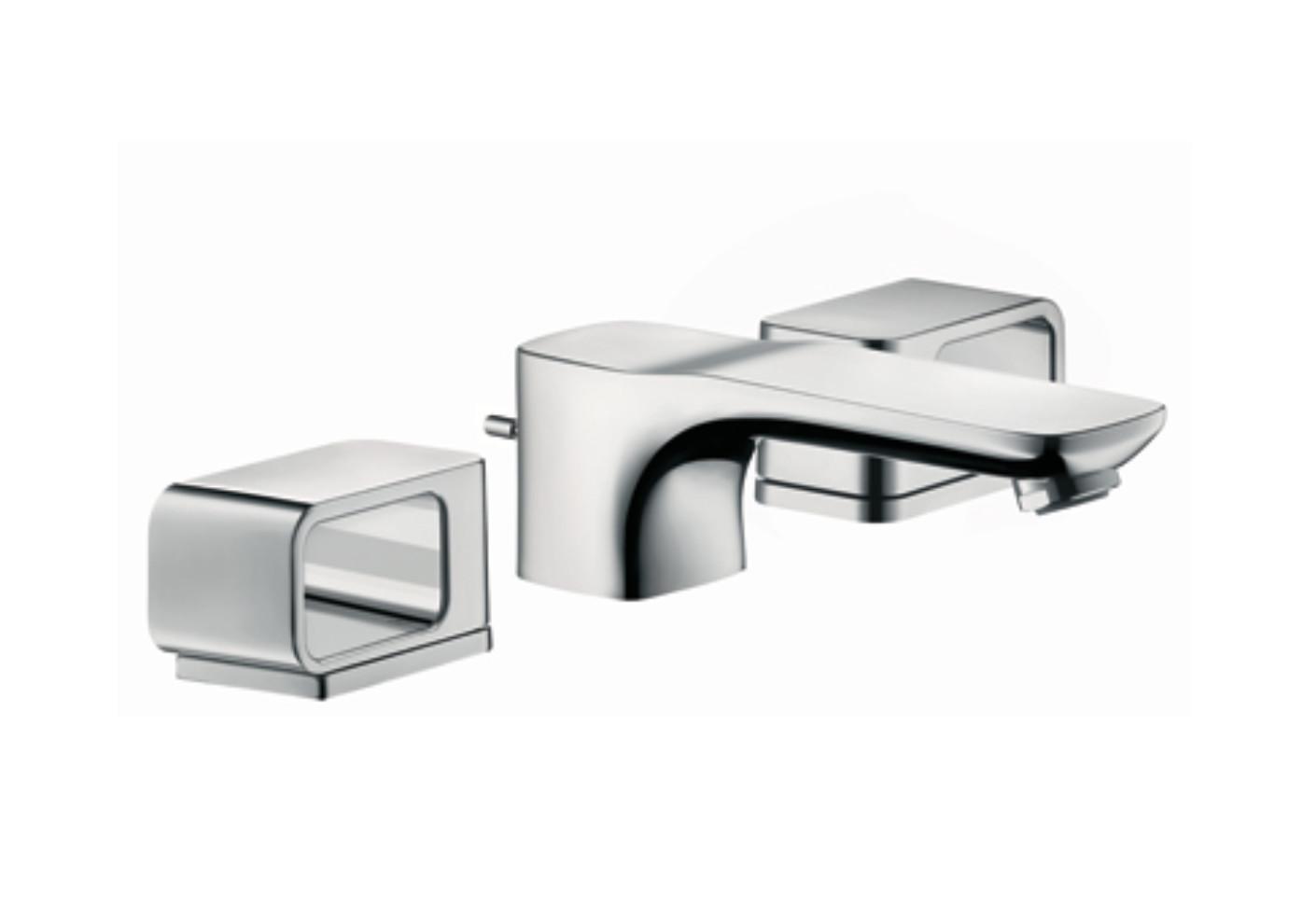 axor urquiola 3 loch waschtischarmatur dn15 mit rosetten von axor stylepark. Black Bedroom Furniture Sets. Home Design Ideas