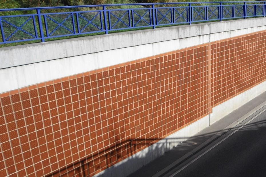 Acoustic bricks, Fair tunnel, Karlsruhe