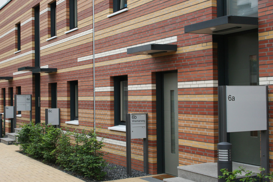 Facade bricks, Energy-saving housing estate, Münster