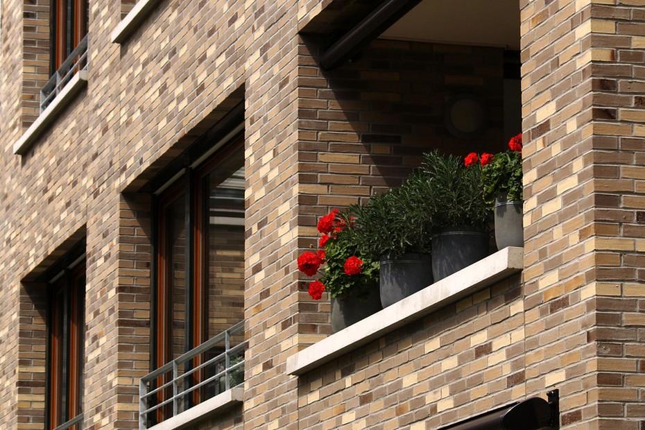 Facade bricks, Residential community, Frankfurt
