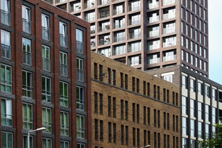 Facade bricks, Residential housing, Amsterdam  by  Hagemeister