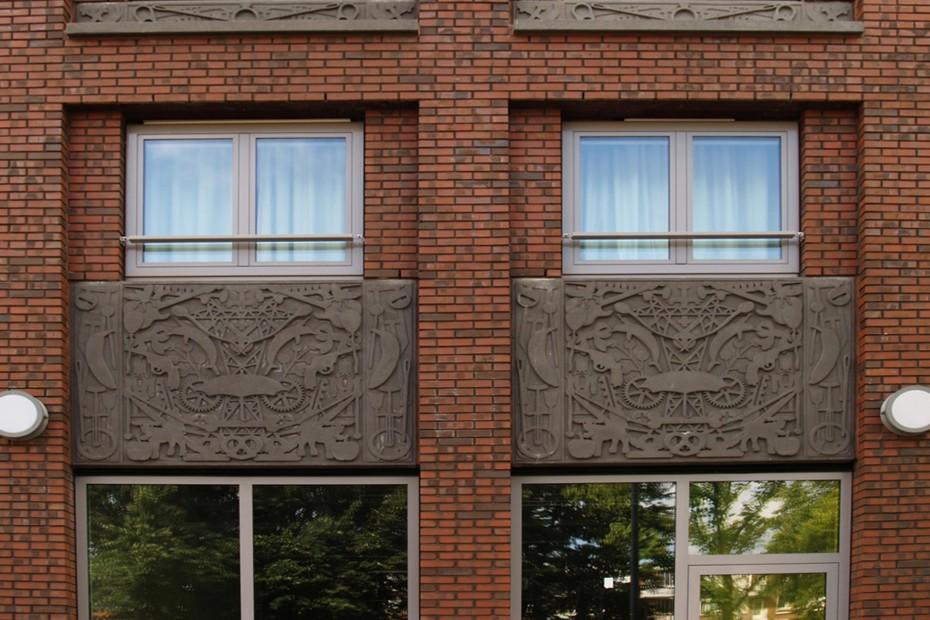 Facade bricks, Residential housing, Amsterdam