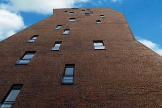 Facade bricks, Tower building, Eindhoven  by  Hagemeister