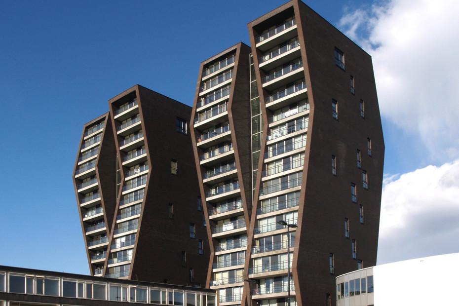 Facade bricks, Tower building, Eindhoven