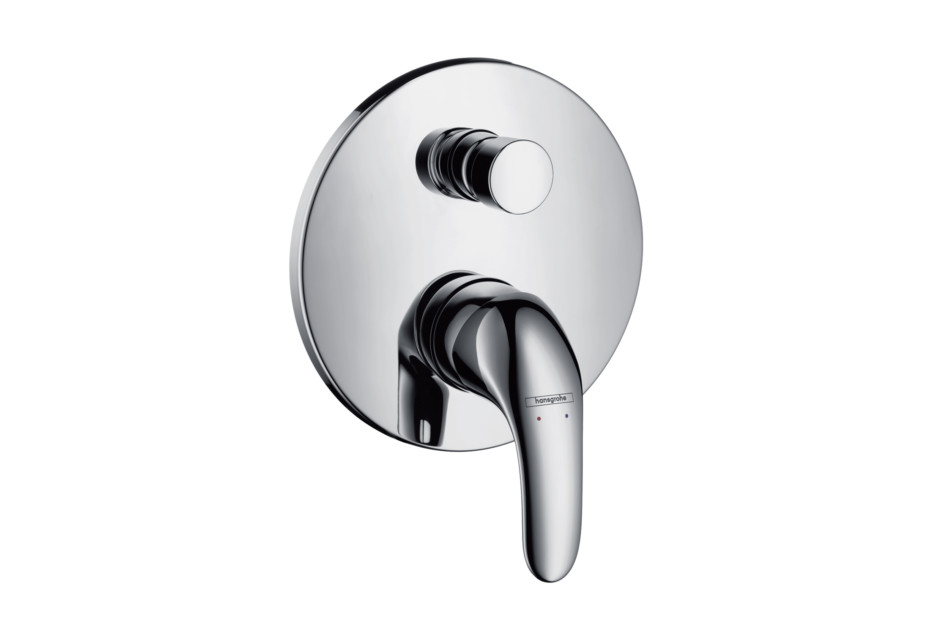 Focus E Single Lever Bath Mixer, for concealed installation