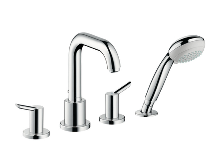 Focus S 4-Hole Rim Mounted Bath Mixer