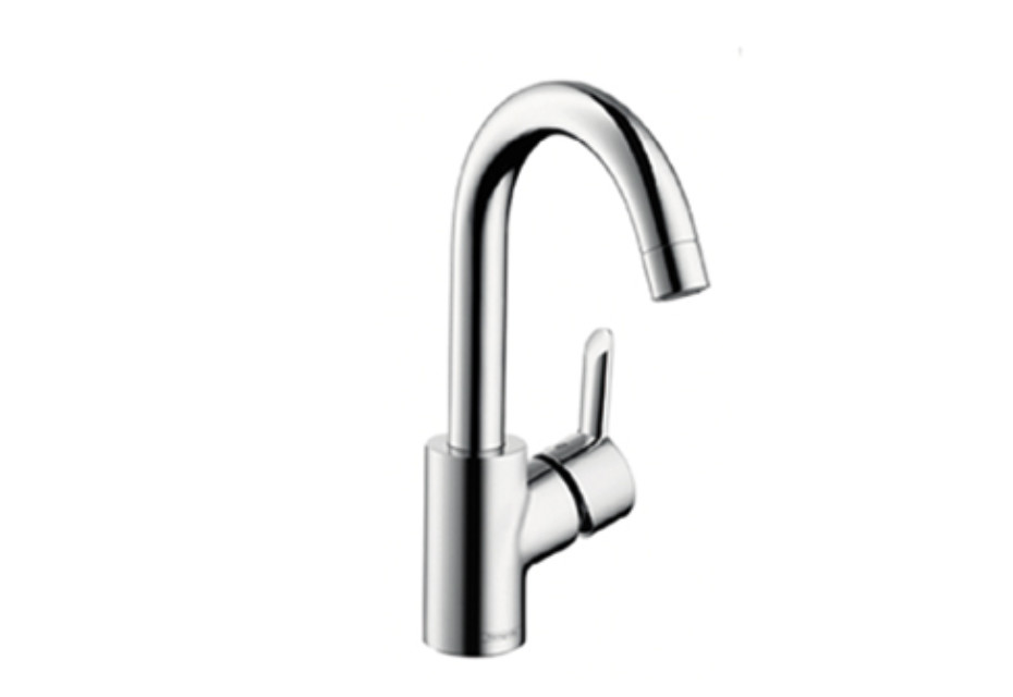 Focus S Single Lever Basin Mixer, DN15, swivel spout with 360° range