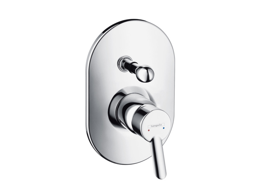Focus S Single Lever Bath Mixer, for concealed installation, oval version
