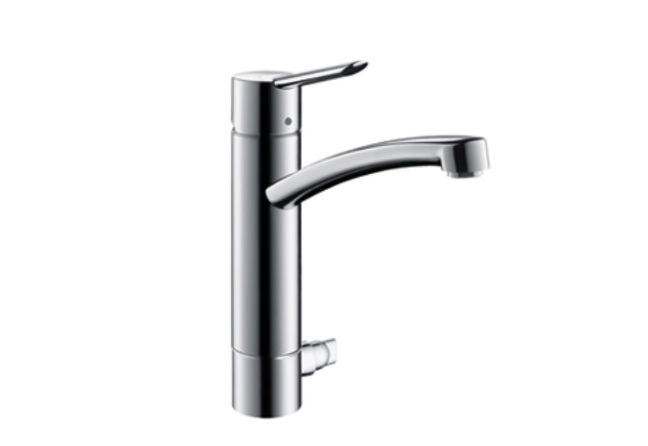 Focus S Single Lever Kitchen Mixer, DN15, with device shut-off valve