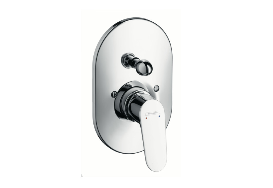 Focus Single Lever Bath Mixer, for concealed installation, oval version