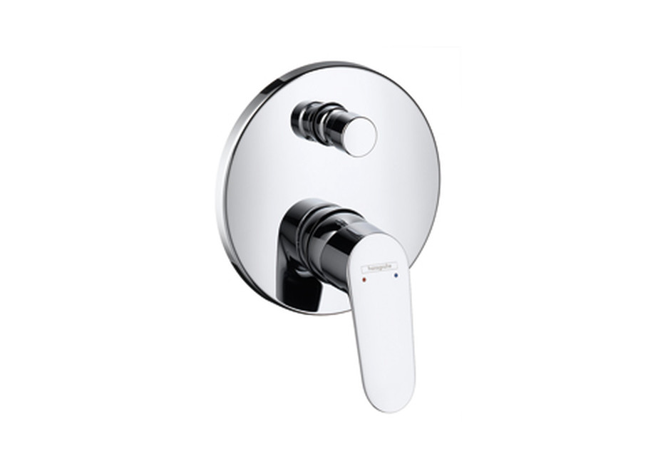 Focus Single Lever Bath Mixer, for concealed installation
