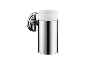 Logis Classic ceramic toothbrush tumbler with holder  by  Hansgrohe
