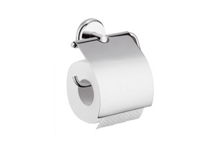 Logis Classic roll holder with cover  by  Hansgrohe