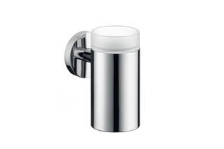 Logis glass toothbrush tumbler with holder  by  Hansgrohe
