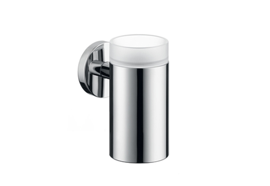 Logis glass toothbrush tumbler with holder