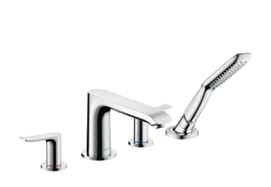 Metris 4-Hole Rim-Mounted Bath Mixer, DN15