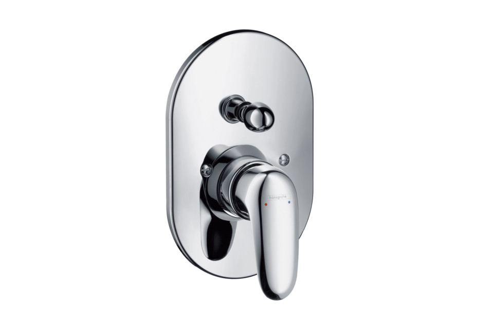 Metris E Single Lever Bath Mixer, for concealed installation, oval version