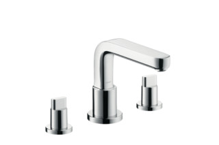 Metris S 3-Hole Rim-Mounted Bath Mixer DN15  by  Hansgrohe