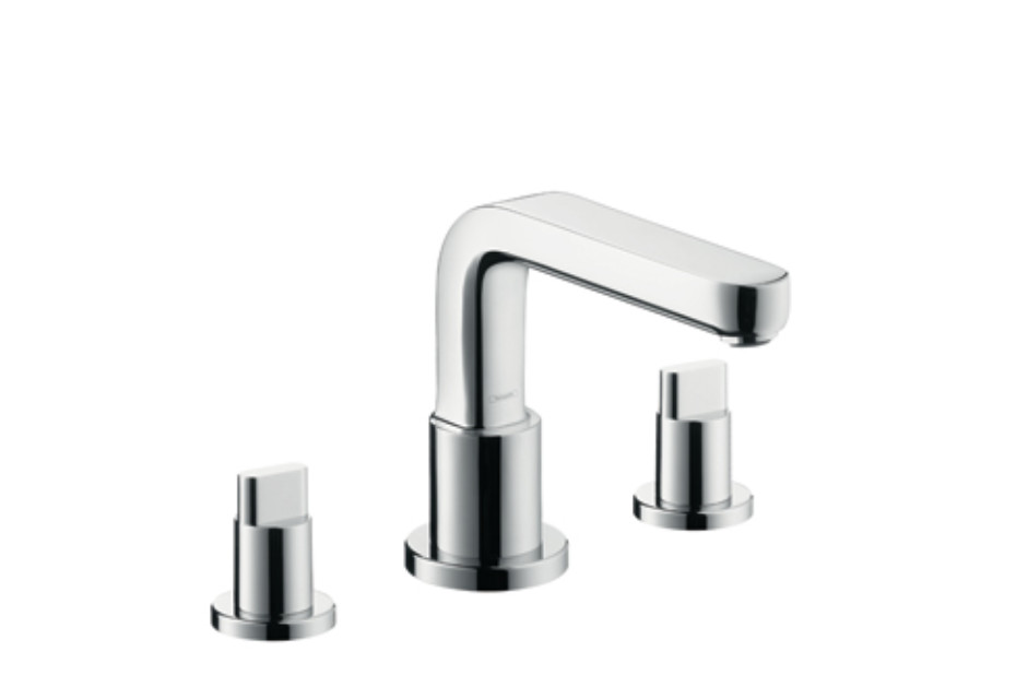 Metris S 3-Hole Rim-Mounted Bath Mixer DN15