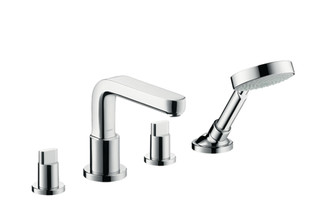 Metris S 4-Hole Rim-Mounted Bath Mixer DN15  by  Hansgrohe