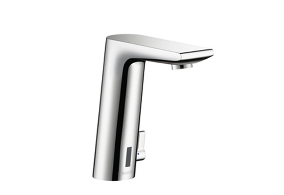 Metris S Electronic Basin Mixer, DN15, with temperature control