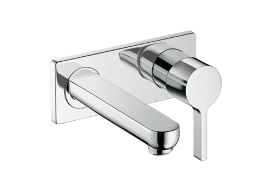 Metris S Single Lever Basin Mixer, DN15, for concealed installation with spout 165mm