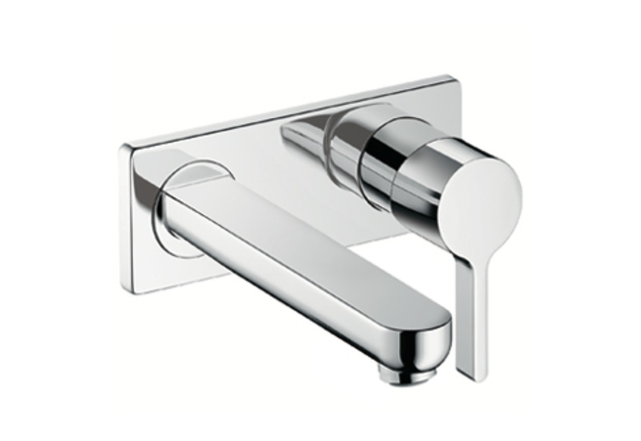 Metris S Single Lever Basin Mixer, DN15, for concealed installation with spout 225mm