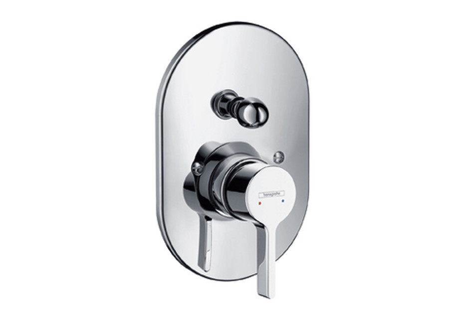Metris S Single Lever Bath Mixer for concealed installation, DN15, oval version