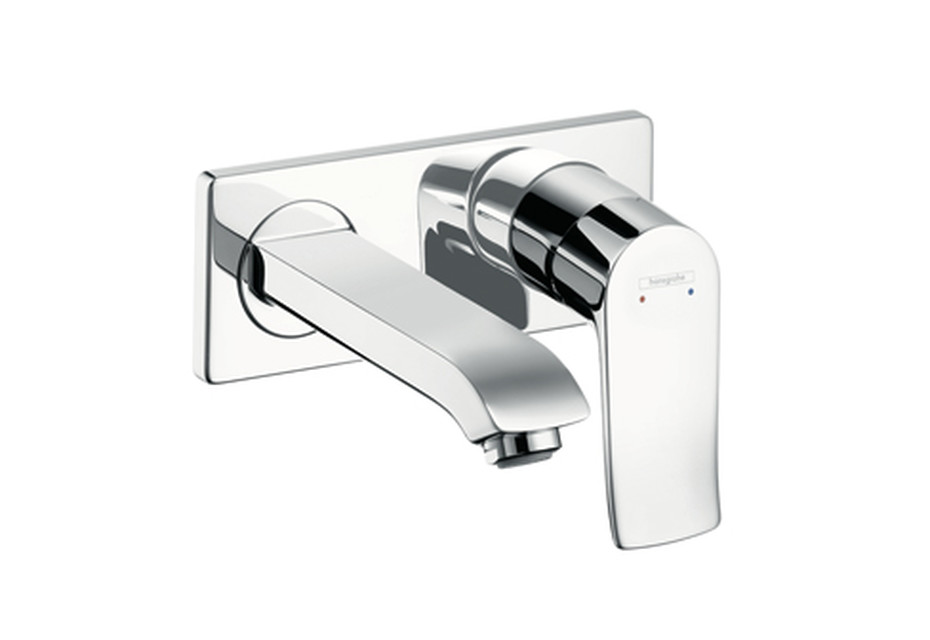 Metris Single Lever Basin Mixer, DN15, for concealed installation with spout 165mm