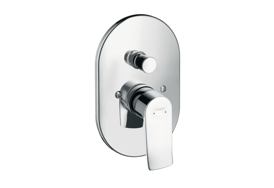 Metris Single Lever Bath Mixer for concealed installation, oval version
