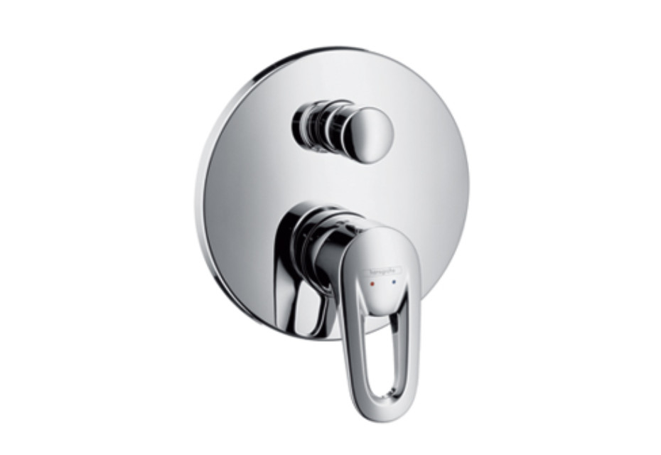 Metropol E Single Lever Bath Mixer DN15, for concealed installation