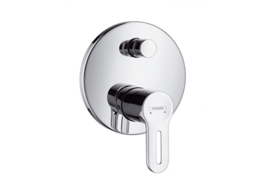 Metropol S Single Lever Bath Mixer DN15, for concealed installation