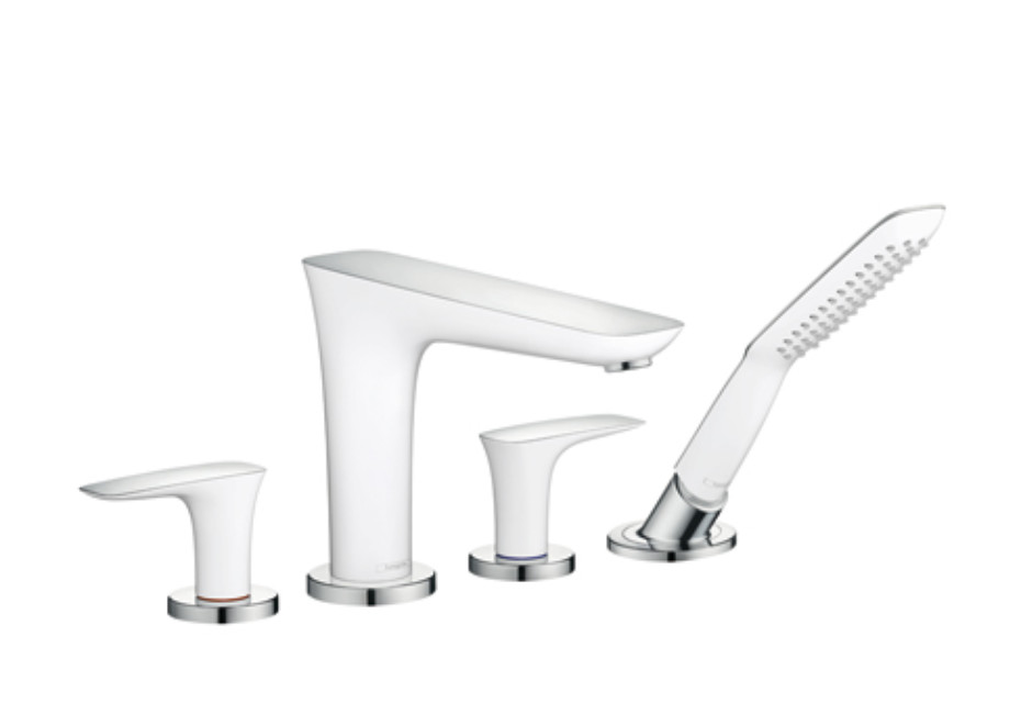 PuraVida 4-Hole Rim-Mounted Bath Mixer, DN15
